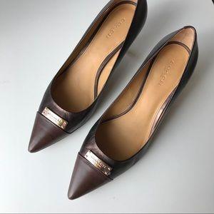 Coach kitten heels leather size 9